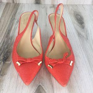 Kate Spade Slingback Orange Heels